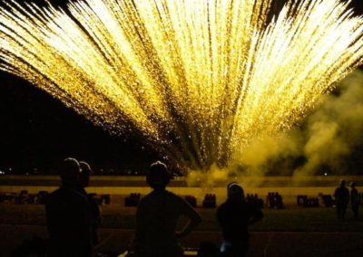 Fireworks crew in action